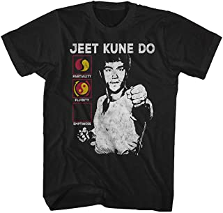 Bruce Lee Chinese Martial Arts Icon Jkd Symbol Meaning Black Adult T-Shirt Tee