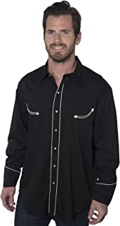 Las Vegas Casino Black Dress Western Shirt