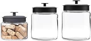 black ceramic cookie jar