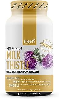 Milk Thistle Capsules – Strongest Available 10,000mg 80% Silymarin – Organic..