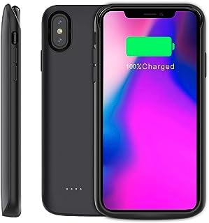 a4d57411a3c Funda Bateria iPhone XS MAX, 6000mAh Carcasa Bateria [Ultra Thin] Externa  Recargable Portatil