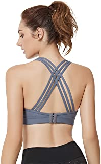 be40eb90e2 Yvette Padded Strappy Sports Bras for Women High or Low Impact for Large  Bust w