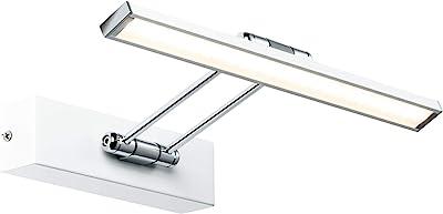Paulmann Galeria 99891 Lampe LED pour tableau avec éclairage d'image 1 x 5 W Blanc/chromé Lampe en métal 2700 K
