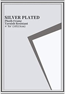 Memorecoder Classic Simple Metal Aluminum Picture Frame with High Definition Glass for Table Photo Display, 4x6 Inch