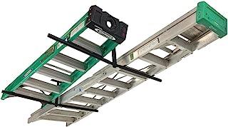 StoreYourBoard Double Ladder Ceiling Rack, Hi Port 2 Garage Storage and Organization, Hanger Mount