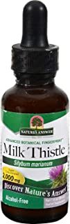 Natures Answer Milk Thistle Seed Alcohol Free - Promotes Healthy Liver Function - Herbal - 1 fl oz (Pack of 2)