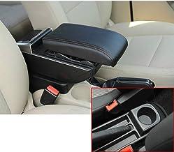 Per V olkswagen Polo 9N 2002-2009 Avanzato Auto Bracciolo Accessori Con funzione di ricarica 7 Porte USB Doppio spazio di archiviazione Il corrimano pu/ò essere sollevato Nero