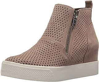 Womens Wedge Sneakers Platform Perforated Hidden Heel High Top Ankle Booties