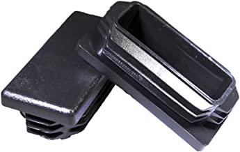 Prescott Plastics 8 Pack: 1x2 Inch Rectangle Black Plastic Plug End Cap 1 x 2