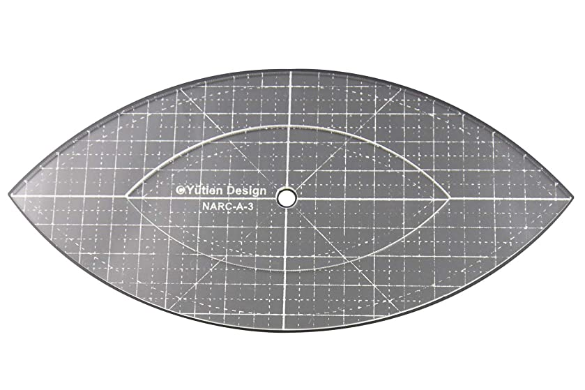 DREAMSTITCH 3mm Acrylic Patchwork Quilting Template Ruler Arc for Domestic (Household) Sewing Machines for Free Motion 1/4