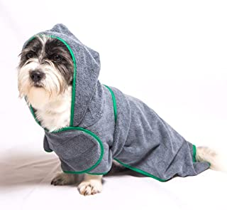 Yu-Xiang Dog Absorbent Bathrobe with Hood/Belt Pet Bath Towel Cat Quick-Dry Costume for Large, Medium,Small Dogs on Summer...