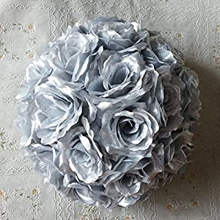 """10 PCS HOT SELL Colorful High ,Quality 15-40CM Rose Pomander Flower Kissing Ball Color:Silver Size:Diameter:20cm 7.8"""""""