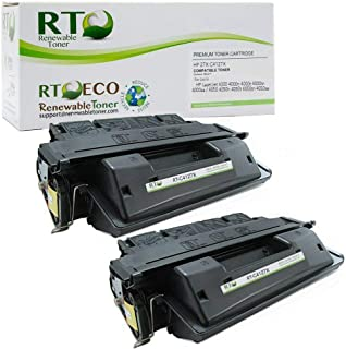 Renewable Toner Compatible Toner Cartridge High Yield Replacement for HP 27X C4127X LaserJet 4000 4050 (Black, 2-Pack)