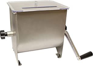 7Penn Manual Meat Mixer – 20 lb Sausage Mixer Machine Meat Processing Equipment, Ground Beef Hand Mixer with Lid