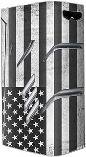 Skin Decal Vinyl Wrap for Smok T-Priv 220W TC Vape stickers skins cover/Black White Grunge Flag USA America