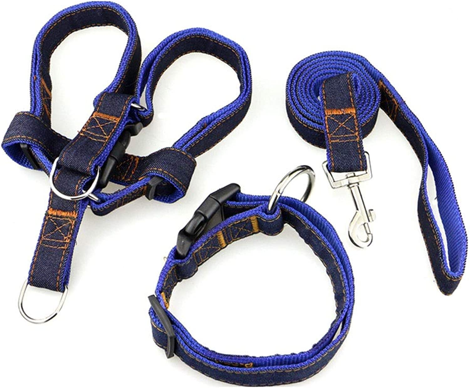 Dog Leash, Collar Chest Back Traction Rope Adjustable MediumSized Hyena Rope 2 Specifications Puppy Chain Pet Dog Supplies (Size   1005M)
