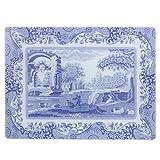 Blue Italian - Salvamanteles (30 x 40 cm, Cristal), Color Azul y Blanco