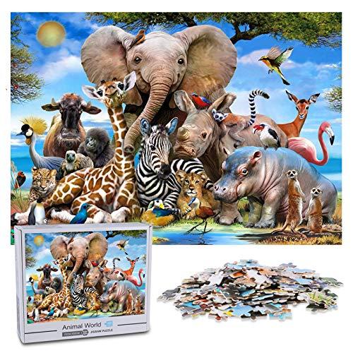 KidsPark Puzzle 1000 Teile Erwachsene Tier, Jigsaw Puzzle 1000 für Erwachsene und Kinder ab 14 Jahren, 1000 Stück Puzzle Schwer Anspruchsvoll Geschicklichkeitsspiel