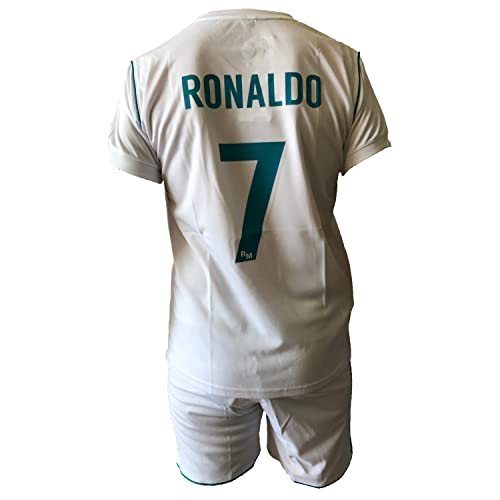 Conjunto Equipacion Camiseta Pantalones Futbol Real Madrid Cristiano  Ronaldo 7 Replica Autorizado 2017-2018 Niños 901d70ae50ea9
