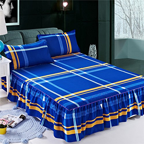 jhywawlb Bettrock Sommer tagesdecke einzigen Anti-Schleudern Sheet Bett Sets-I 180x200cm(71x79inch)