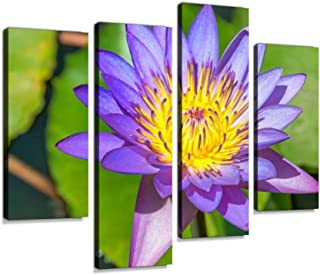 Lotus Flower,Sri Lanka Canvas Wall Art Hanging Paintings Modern Artwork Abstract Picture Prints Home Decoration Gift Unique Designed Framed 4 Panel
