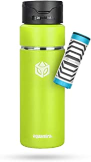 Aquamira Shift Filtered Water Bottle with Everyday Filter - Insulated and BPA-Free for Hiking, Camping, Backpacking, Travel and Emergency Survival Preparedness