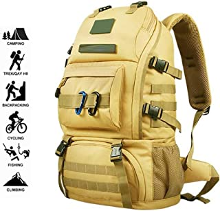 SP-Xhz Water-Resistant Travel Hiking Trekking Backpack Rucksack Oxford Climbing Camping Rucksack Outdoor Backpack(50L) (Color : Yellow)