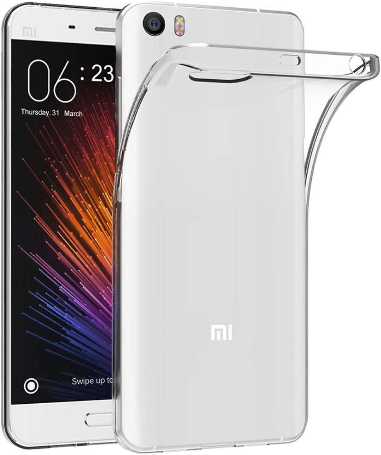 Todotumovil Funda de Gel TPU Carcasa Protectora Silicona para Xiaomi MI5 Transparente