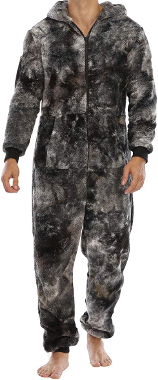 Men's Pajamas Set Long Sleeve Pajama Sleepwear black XL