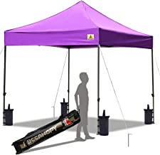 ABCCANOPY Pop up Canopy Tent Commercial Instant Shelter with Wheeled Carry Bag, Bonus 4 Canopy Sand Bags, 10x10 FT Purple
