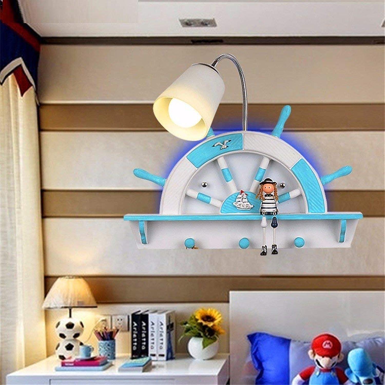 Reeseiy Minimalistische Wandleuchte Wandleuchte E26 E27 Dbyx Mediterrane Kinder Jungen Und Zimmer Schlafzimmer Bedside Led Wandleuchte Kreative Licht Nacht (Farbe   Colour-Größe)