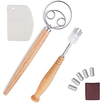 """pizza Great alternatives to a blender LARGE 13.5/"""" Stainless Steel Dutch Style bread dough whisk for pastry The Original Danish Dough Whisk mixer or hook"""