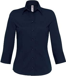 Milano Italy Damen Bluse ohne Kragen grau//rose
