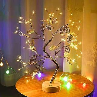 ExH Lámpara Led Para árbol Bonsai, 36 Bombillas Led en Forma de Hoja Luces de Rama de árbol de Alambre Luz de Mesa Bonsai Árbol Luz Nocturna para Decoraciones de Sala