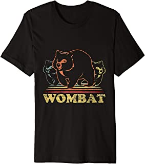 TIANLANGHB Vintage Animal Gifts Retro Wombats Australia Wombat Premium T-Shirt