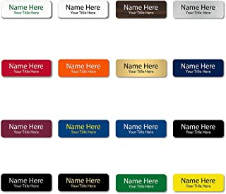 """Custom Engraved Name Tags (Rounded Corner, 1""""x3"""") - Personalized Name Tags"""