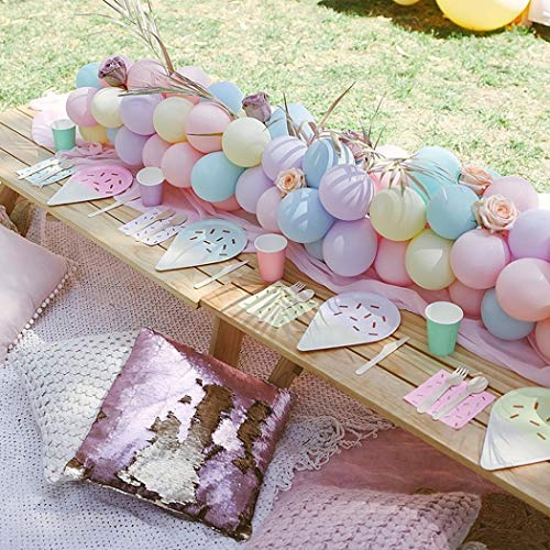 100pcs Pastel Latex Balloons 10 Inches Assorted Macaron Candy Colored Latex Party Balloons for Wedding Graduation Kids Birthday Party Christmas Baby Shower Party Supplies Arch Balloon Tower