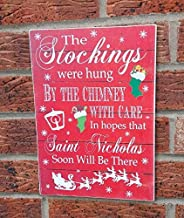 Christmas Stockings were Hung Wooden Sign