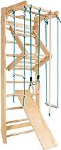 COSTWAY Klimwand Kinderen Turnwand, Zweedse Ladder, Kinderen Gym Klimrek, Optrekstang, Krachttraining Optrekstangen, Vrije...