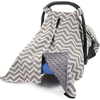 MHJY Carseat Canopy Cover Nursing Cover Breathable Cotton Infant Car Seat Canopy Carseat Cover Nursing Scarf for Boy Girl Baby Shower Gift,Grey