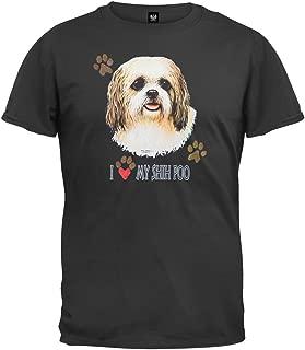 I Paw My Shih Poo Black T-Shirt