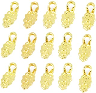 100pcs Gold Color Spoon Glue on Bail for Earring Bails or Scrabble and Glass Pendants Charms Connector Jewelry Decor