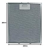 SPARES2GO Filtro de malla de grasa de aluminio para ventilación de campana de cocina Hotpoint-Ariston (305 x 267 mm)