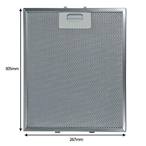Spares2go Aluminium-Fettfilter für Hotpoint-Ariston Dunstabzugshaube Ventilator (305 x 267 mm)