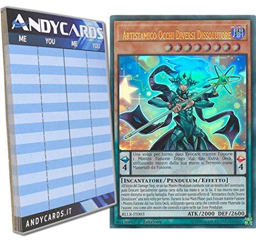 Andycards Yu-Gi-Oh! - ARTISTAMICO Occhi Diversi DISSOLUTORE - Ultra Rara BLLR-IT003 in Italiano + Segnapunti