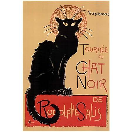 Black White Tuxedo Cat Quinn/'s Bistro French Restaurant Vintage Poster FREE SH