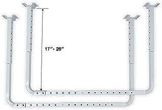 HyLoft 80842-10 33 in. x 34 in. Adjustable Garage Ceiling Mount Storage Rack Kit, Garage Overhead Storage Bracket, White