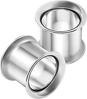 2PCS Stainless Steel Double Flared Saddle Stretcher Ear Tunnel Gauge Plug Earring Lobe Piercing Jewelry See More Sizes