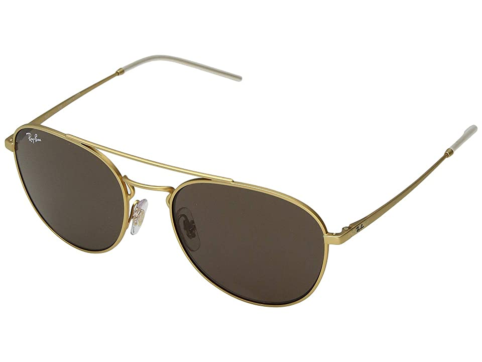 Ray-Ban RB3589 55mm (Rubber Gold/Brown) Fashion Sunglasses