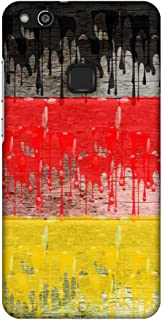 AMZER Slim Fit Handcrafted Designer Printed Snap On Hard Shell Case Back Cover for Huawei P10 Lite - Germany Flag- Paints ...